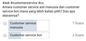 Survey memilih Customer Service