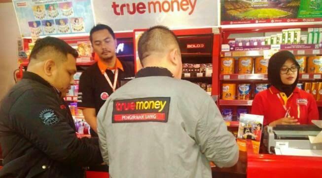 Kirim uang via true money melalui alfamart
