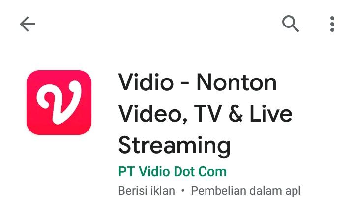 Aplikasi streaming vidio