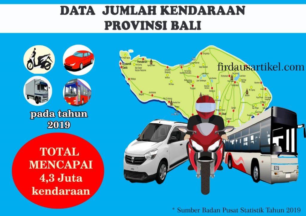 Data jumlah kendaraan di Bali