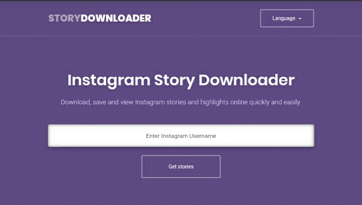 Cara download video Instagram stories via story downloader