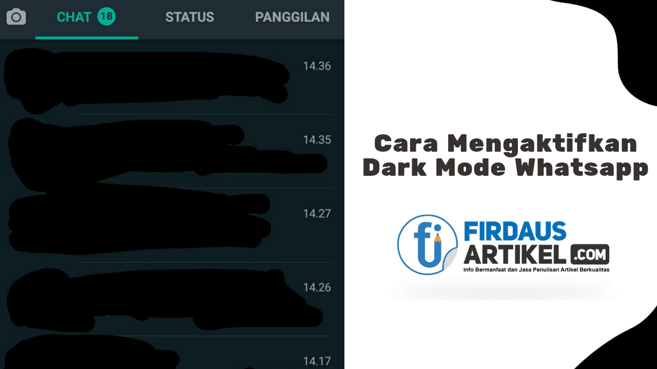 cara mengaktifkan dark mode whatsapp