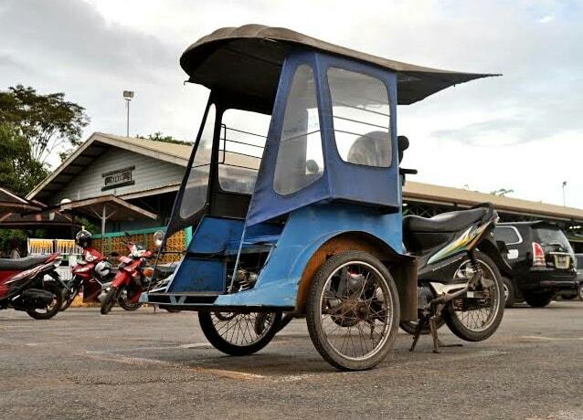 Gambar alat transportasi tradisional bentor