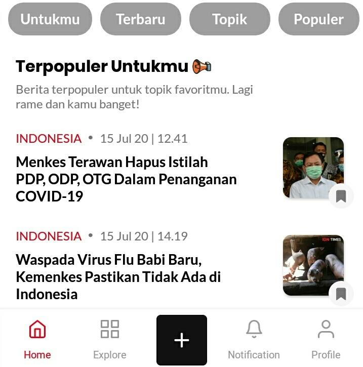 Newsfeed IDN App
