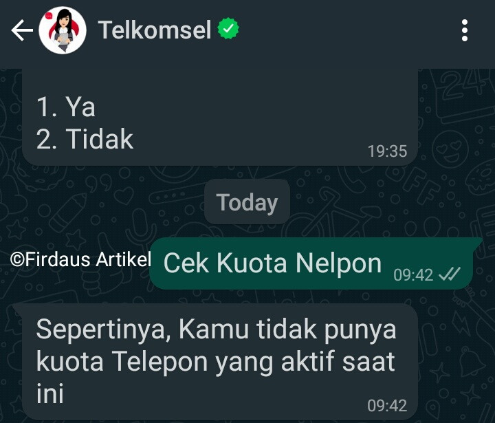 4 Cara Cek Kuota Nelpon Telkomsel paling Mudah 6