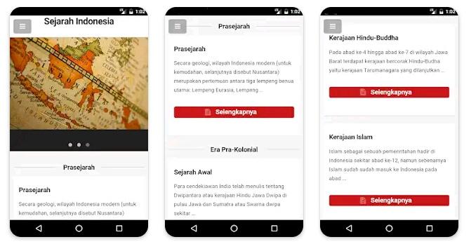 6 Aplikasi Belajar Sejarah Indonesia dan Dunia Lengkap 2