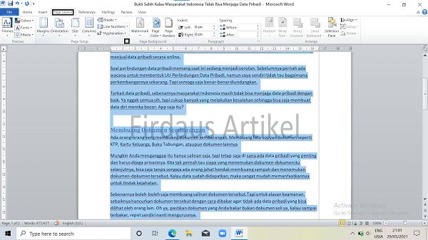 2 Cara Mengatur Ukuran Kertas di Word Paling Mudah 5