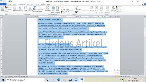 2 Cara Mengatur Ukuran Kertas di Word Paling Mudah 4