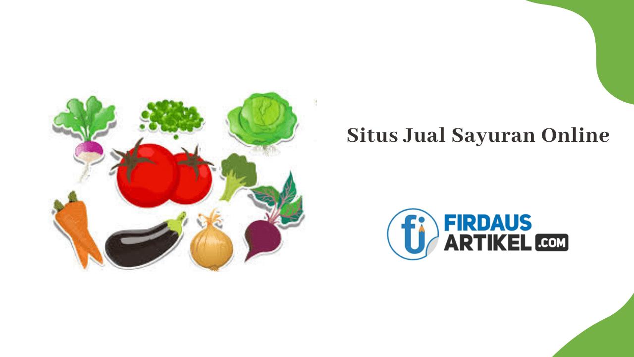 situs jual sayuran online